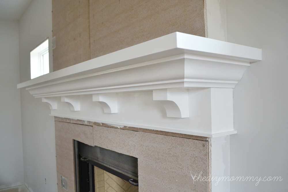mantels ideas building our diy fireplace the mantel the diy mommy - How To Build A Fireplace Surround