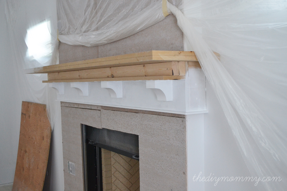 Building Our Fireplace: The DIY Mantel – Our DIY House | The DIY Mommy