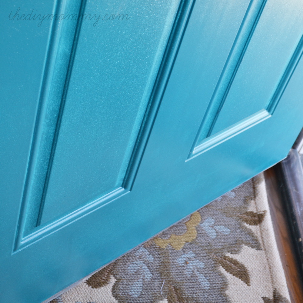 Our DIY House - Teal Door - The DIY Mommy