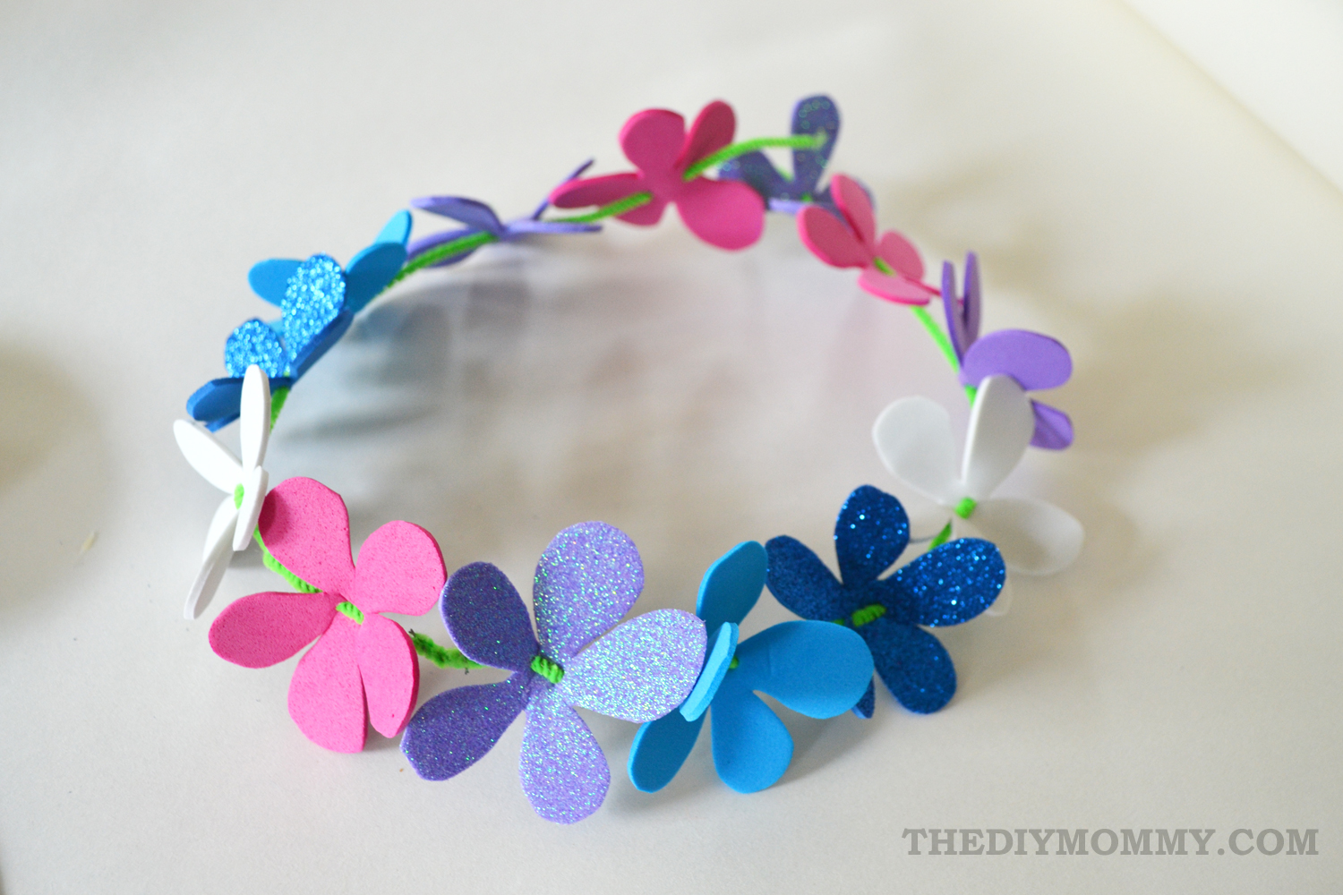 Make A Summery Flower Crown From Foam Sheets A Kids Craft