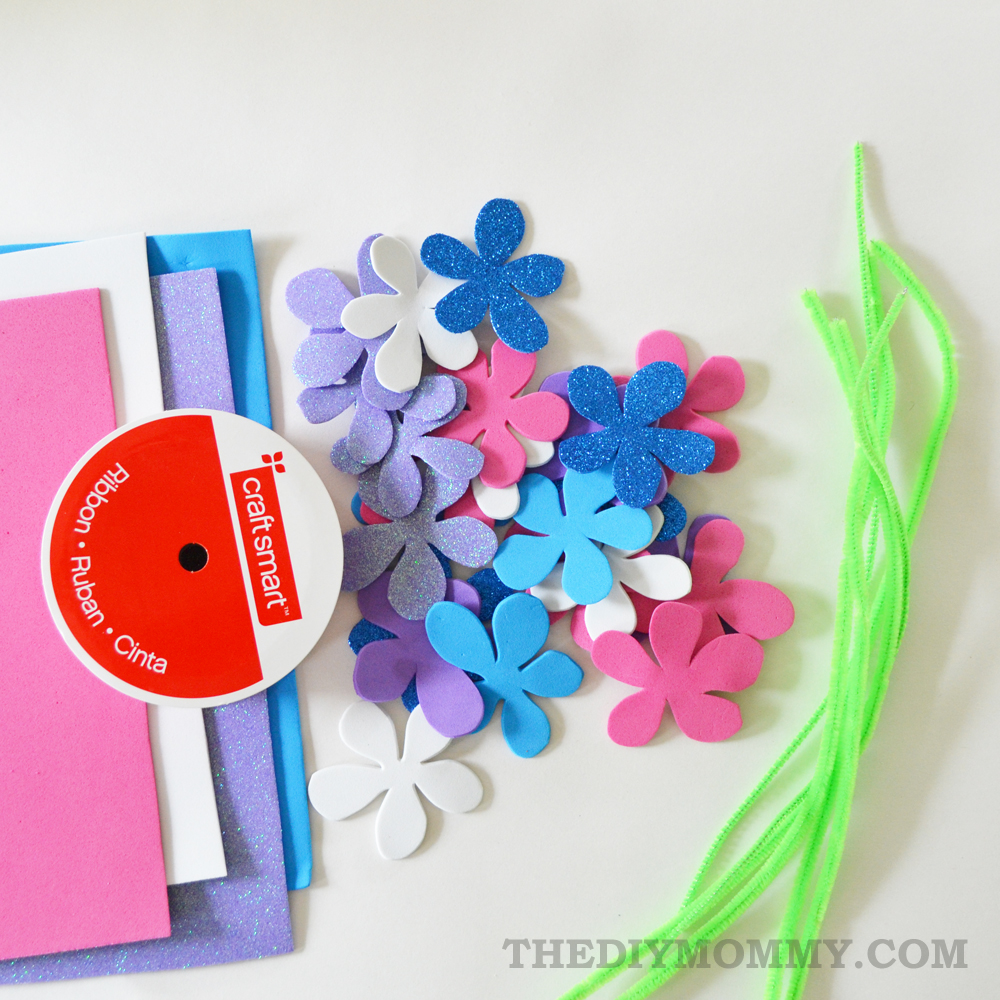 Make A Summery Flower Crown From Foam Sheets A Kids Craft The