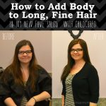 How To Add Body to Long, Fine Hair - The DIY Mommy