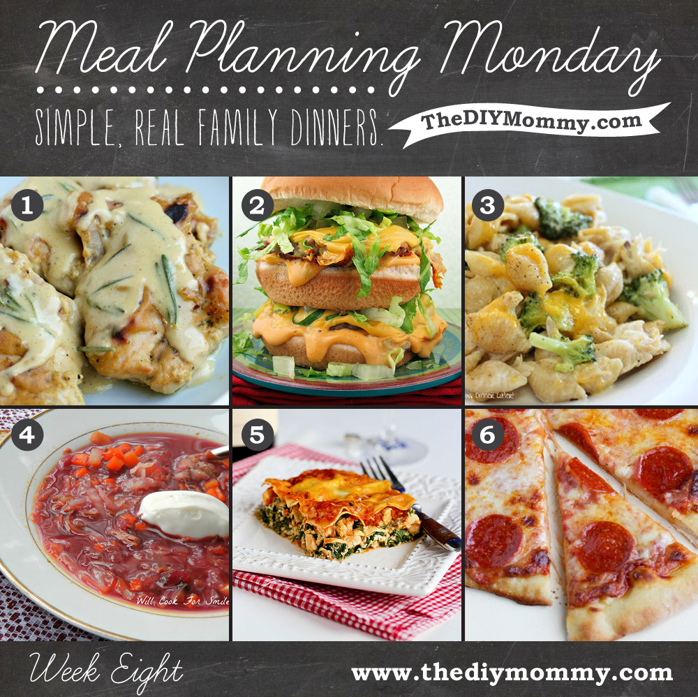 Meal planning monday week 8 simple real family dinners for Easy diy lunches