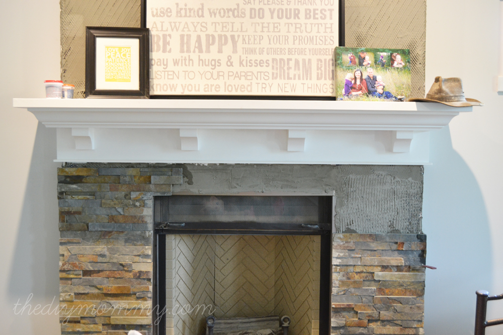 Our DIY House - Fireplace - The DIY Mommy