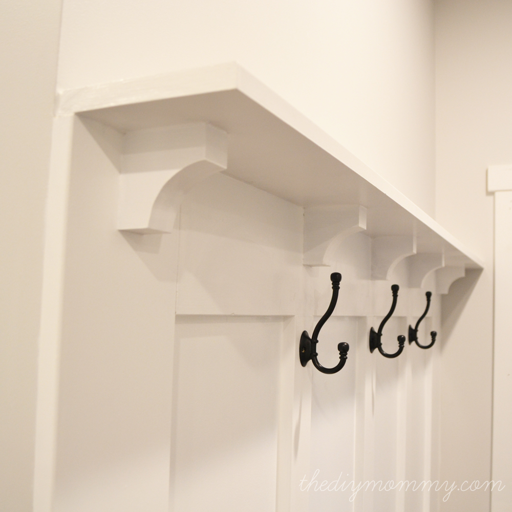 Build a DIY Board and Batten Hook Wall - The DIY Mommy