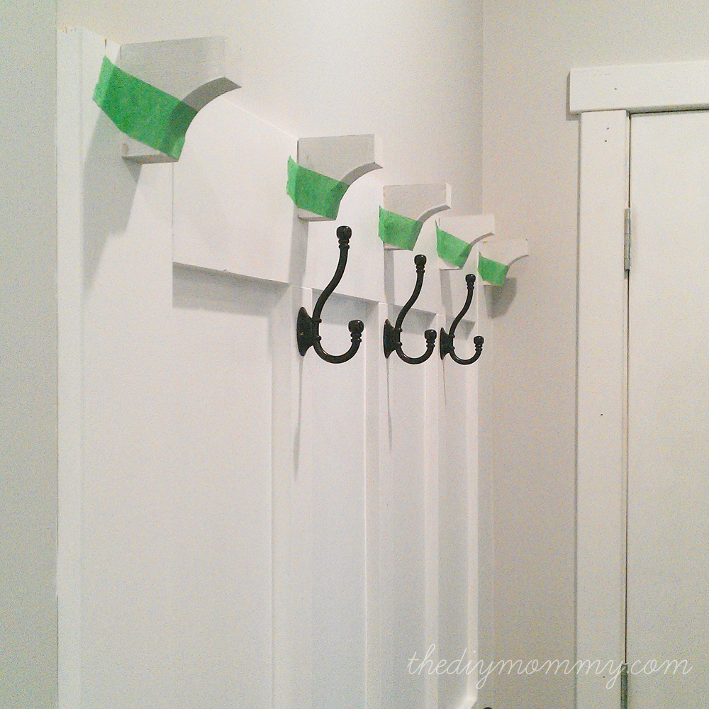 Build a board batten diy hook wall the diy mommy Hooks for the wall