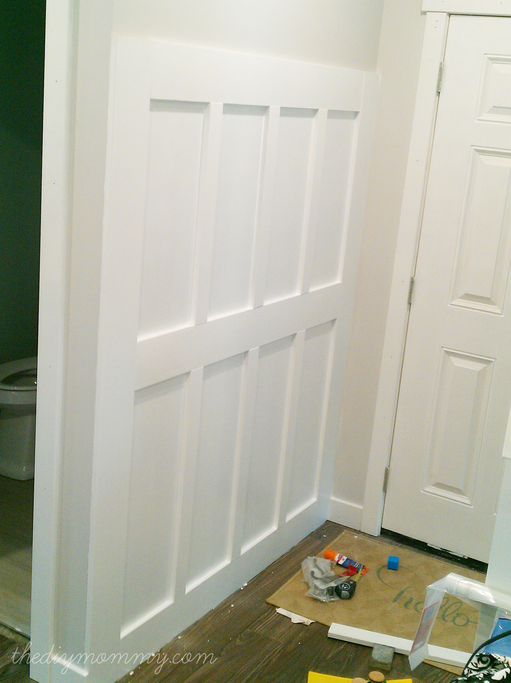 Filed under board and batten wainscoting diy diy projects - Build A Diy Board And Batten Hook Wall The Diy Mommy