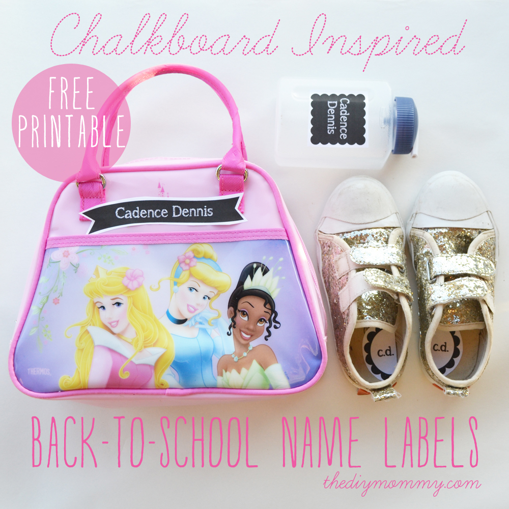 Chalkboard Inspired Back-To-School Name Labels - Free Customizable Printable!