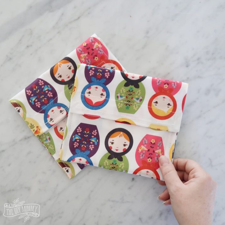 Sew a 15 Minute Reusable Snack Bag