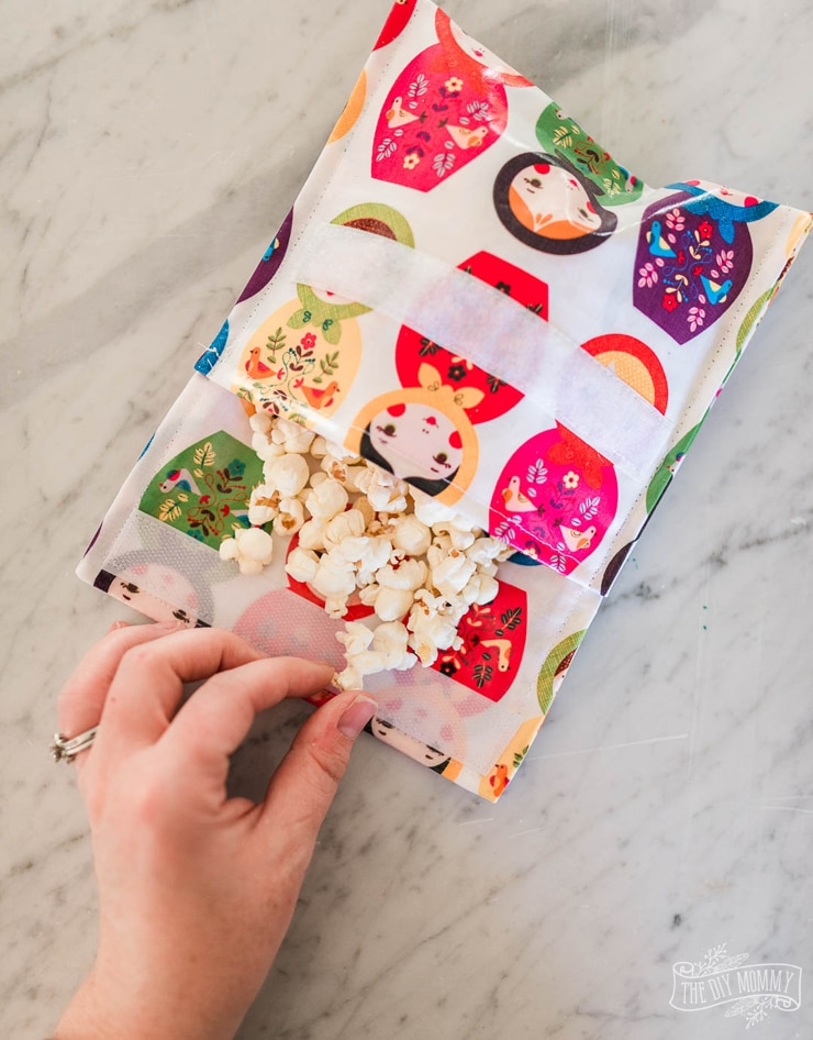 How to sew reusable fabric snack bags in 15 minutes