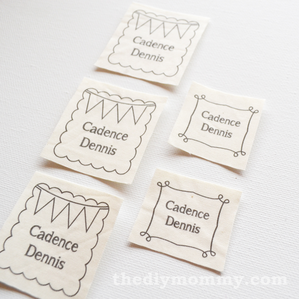 This is a picture of Printable Fabric Labels inside custom printed fabric