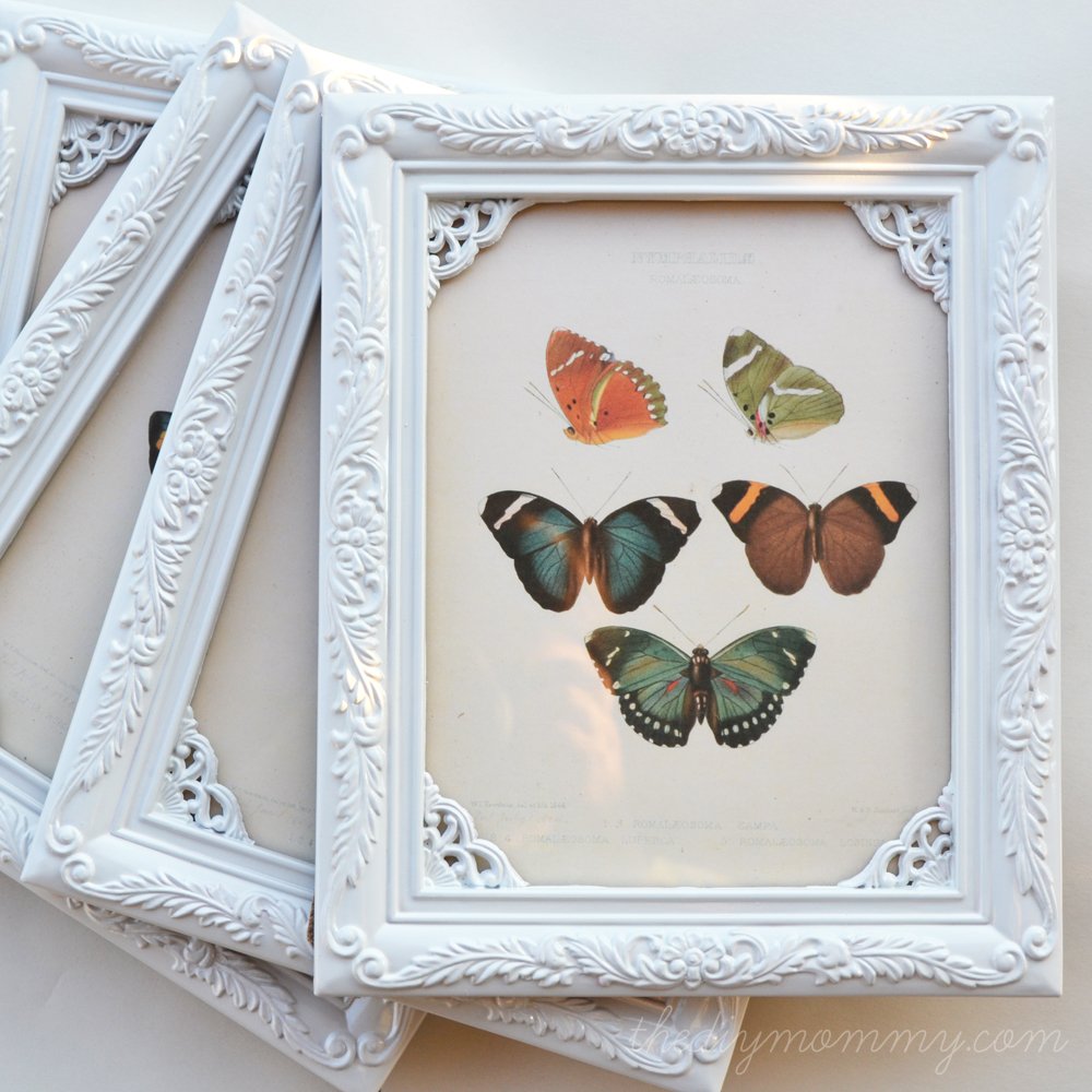 Diy Shabby Chic Butterfly Art For 1 A Value Village 50 Off Sale
