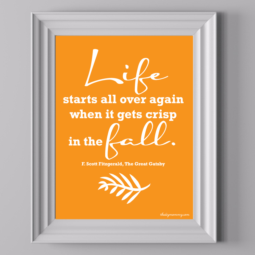 Life Starts in the Fall - Free Printable Artwork