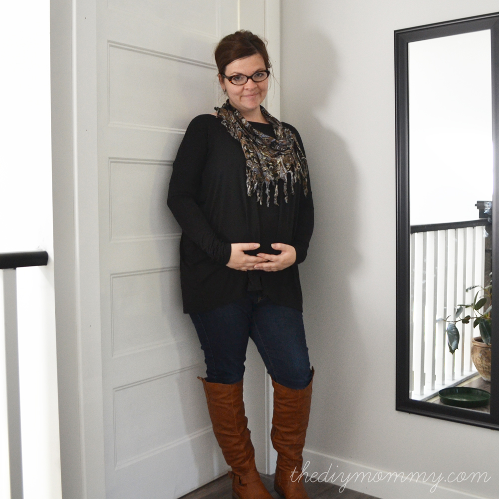 Non-Maternity Fall Maternity Uniform - The DIY Mommy