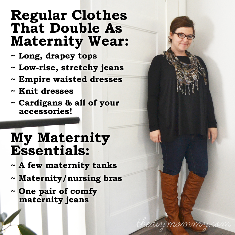 Regular clothes that you can wear as maternity clothes - The DIY Mommy