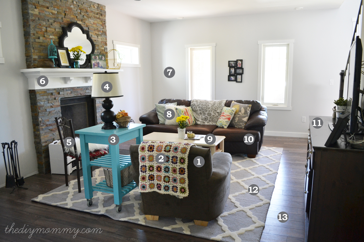 Our rustic glam farmhouse living room our diy house for Diy living room decor