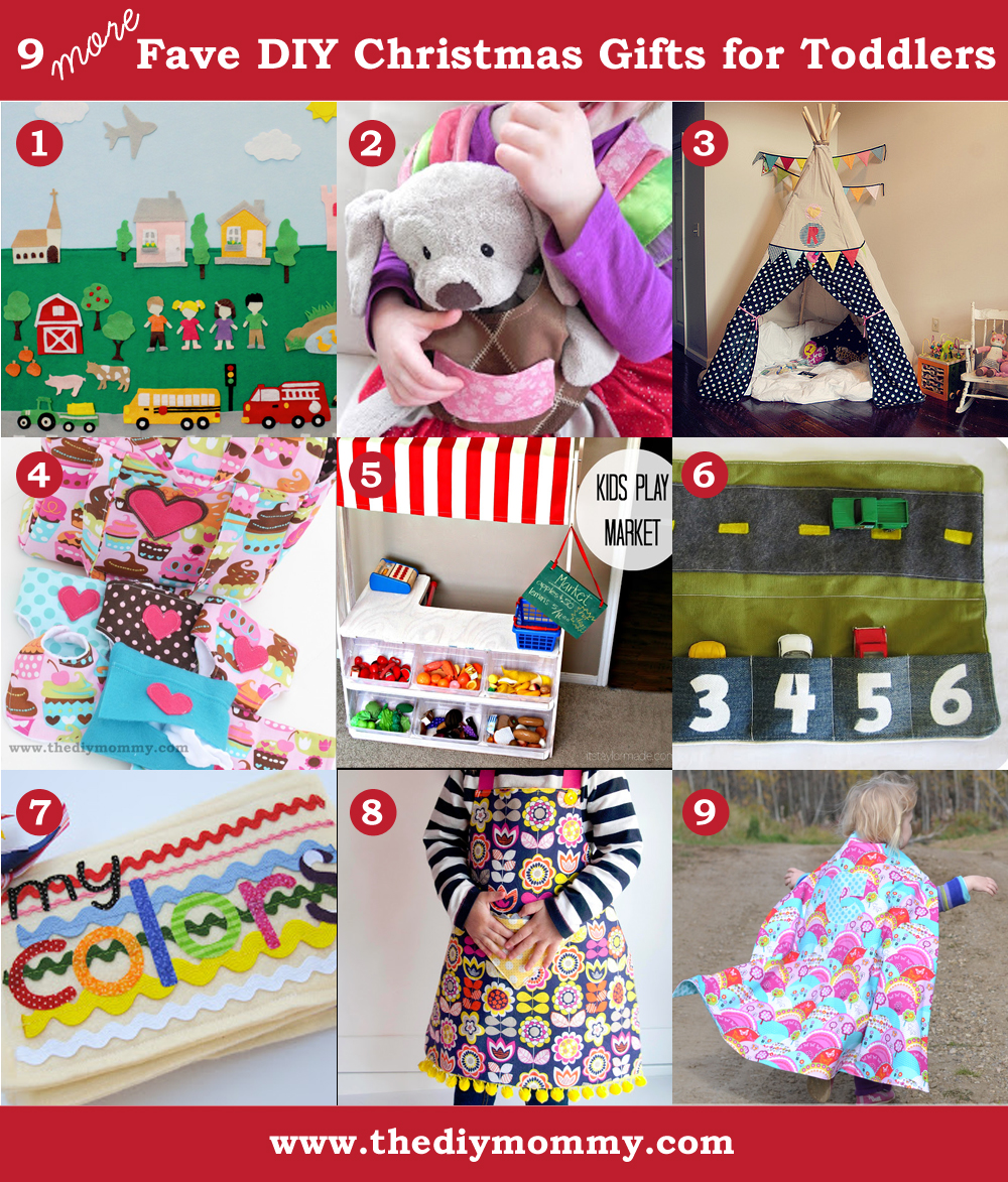 Handmade Christmas Gifts For Kids: A Handmade Christmas: More DIY Toddler Gifts
