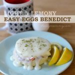 Light and Lemony Easy Eggs Benedict Recipe - The DIY Mommy