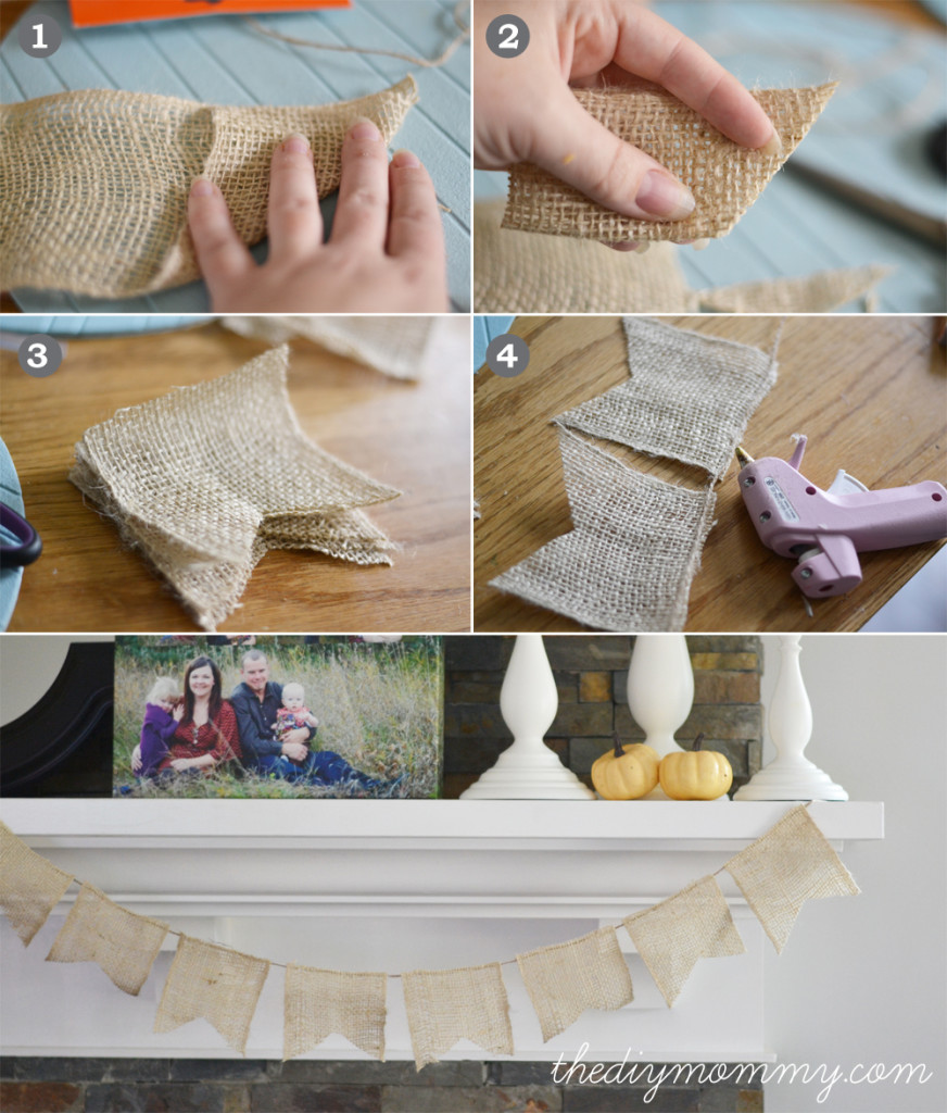 No-Sew DIY Burlap Bunting Banner - The DIY Mommy