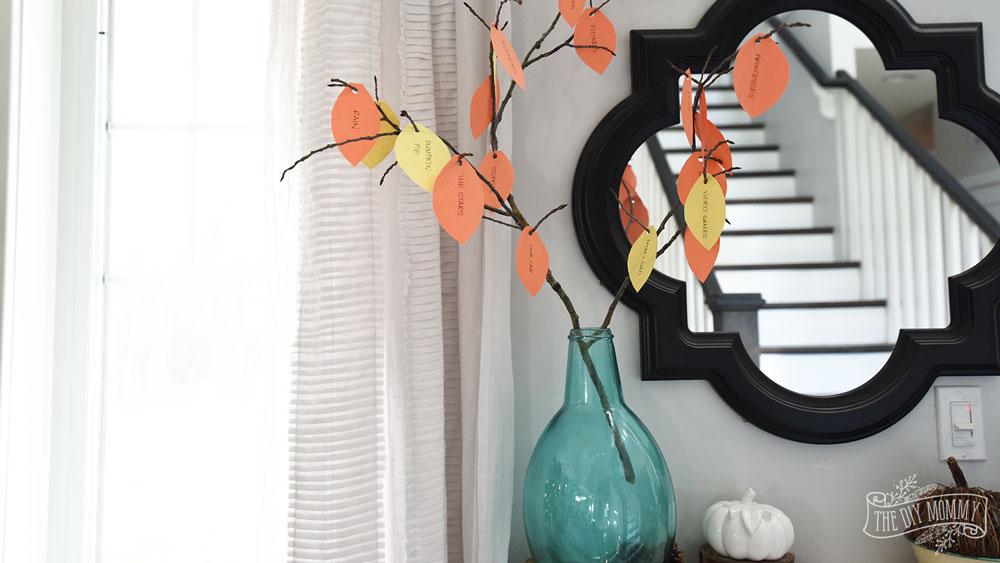 Thankful Tree Thankgiving Kids Craft