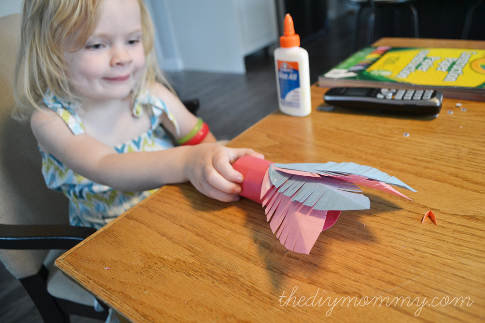 Toilet Paper Roll Turkey Placeholder - A Kid's Thanksgiving Craft - The DIY Mommy