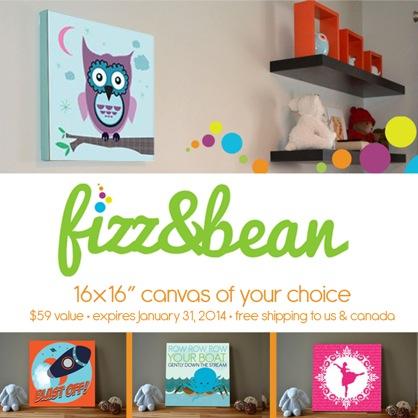 Fizz & Bean Canvas Art Giveaway