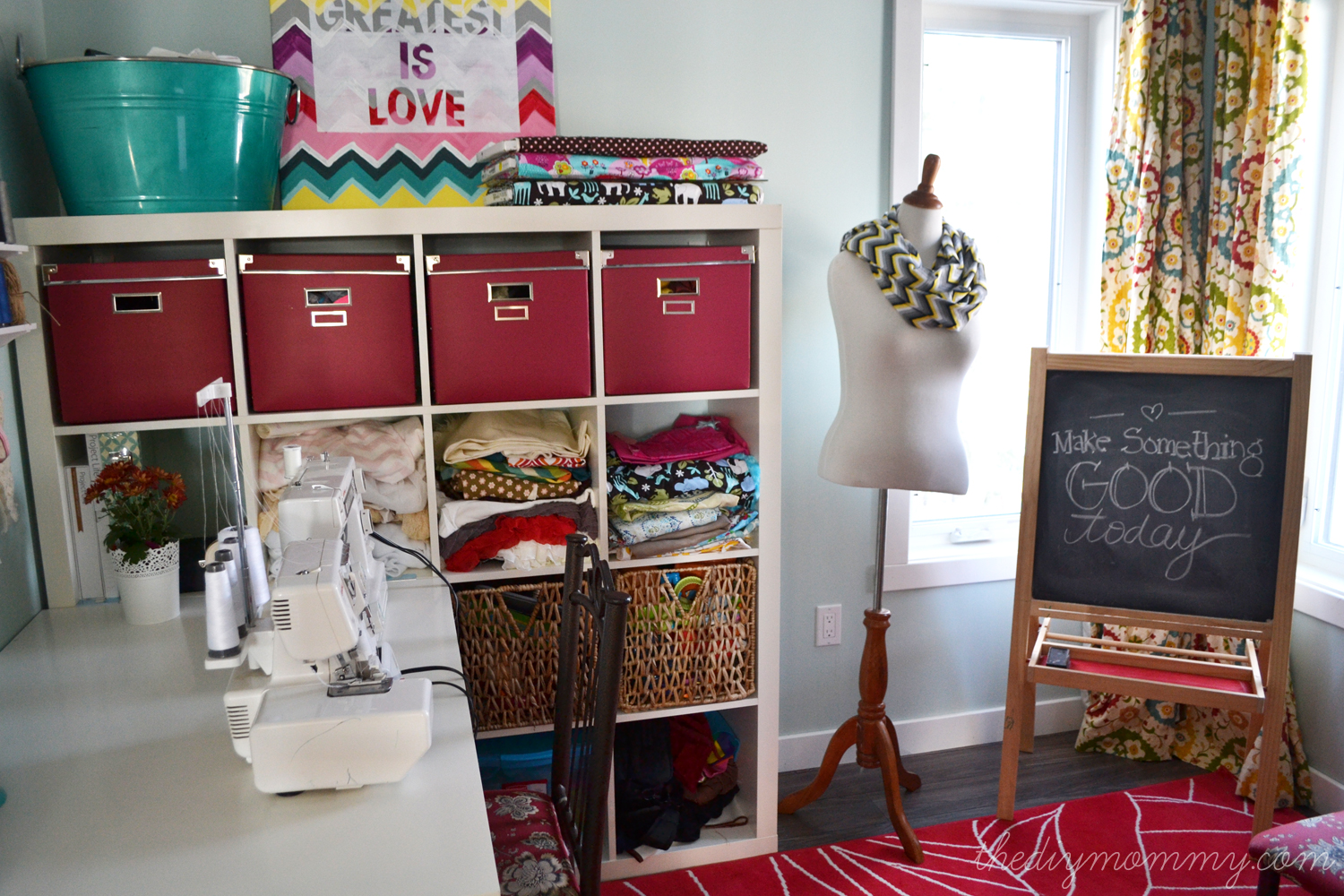 home office craft room. colorful craft room office by the diy mommy home