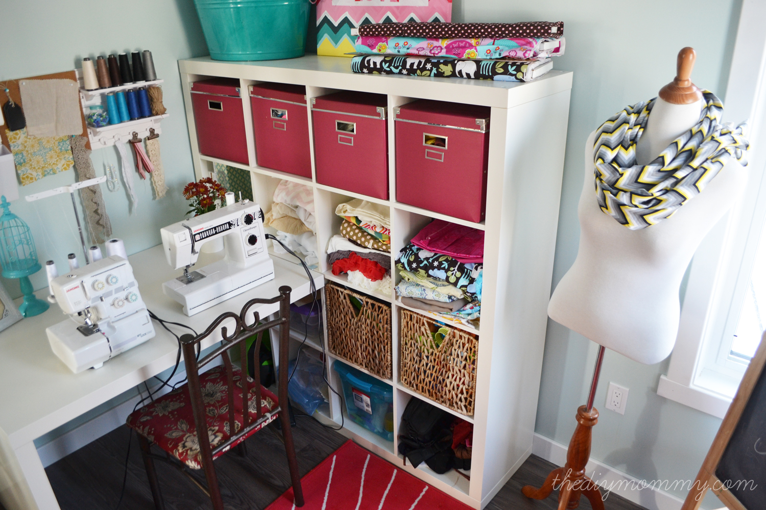 Colorful Craft Room Office By The DIY Mommy Part 56