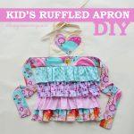 DIY Ruffled Kid's Apron - The DIY Mommy