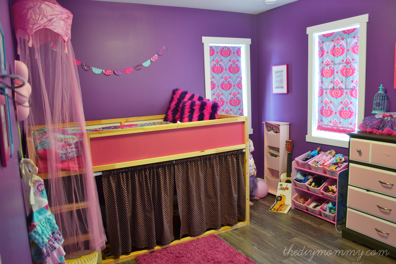 A Pink White Gold Shabby Chic Glam Girls Bedroom Reveal Little C S Room Makeover For The Orc