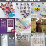 9 Favourite Tutorials of 2013 from The DIY Mommy. Dolly diaper bag and accessories, granny square baby blanket, road map busy bag printable, fabric covered roller shade, easy baby quilt, infinity dress, craftsman trim, installing laminate flooring, jewelry holder from a cutlery tray.