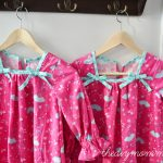 Christmas Nightgowns with Ruffles and Bows by The DIY Mommy