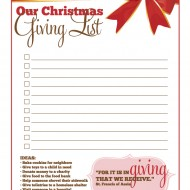 Make a Christmas Giving List – A Kid's Activity #KinderMom