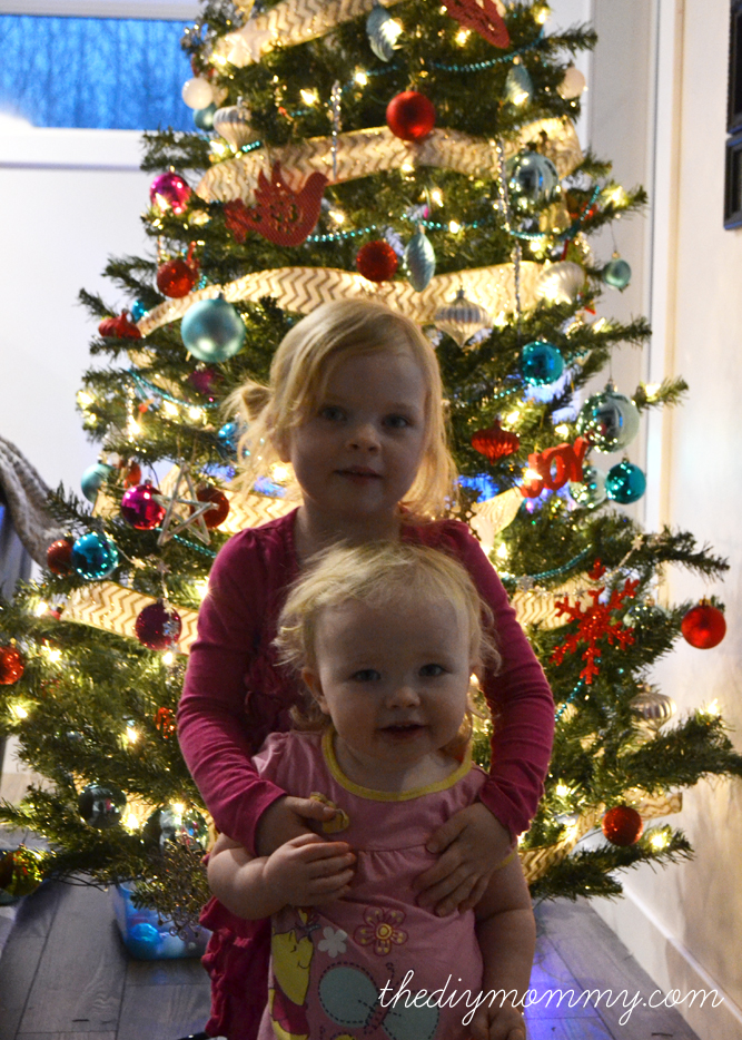 Colourful Christmas Tree - The DIY Mommy