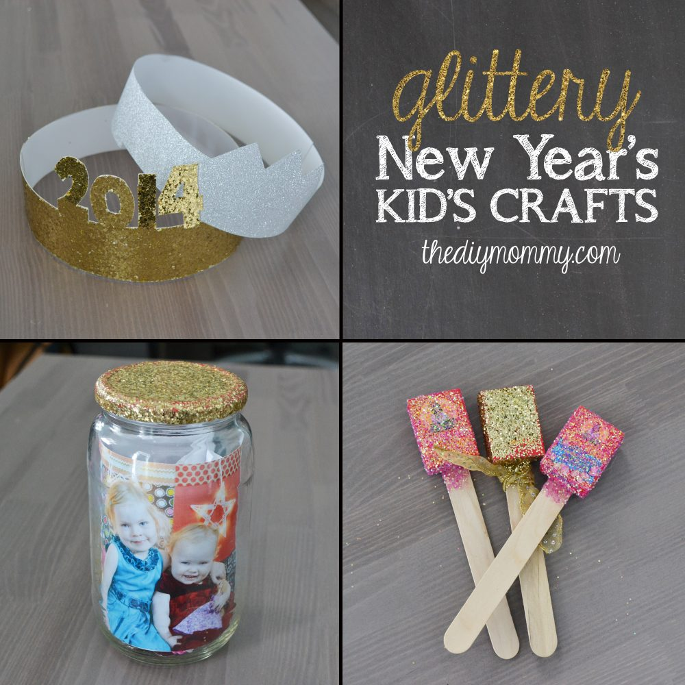 Craft: Make Glittery New Year's Kid's Crafts