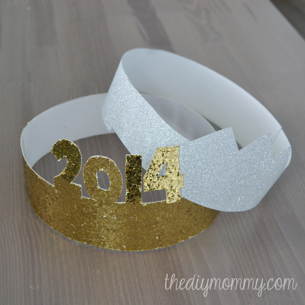 Glittery New Year's Party Hats from Scrapbook Paper