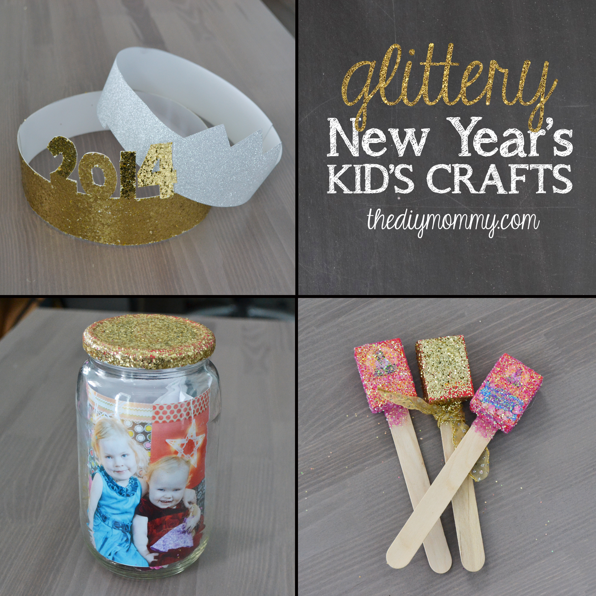 Make Glittery New Year S Kid S Crafts On The News The Diy Mommy