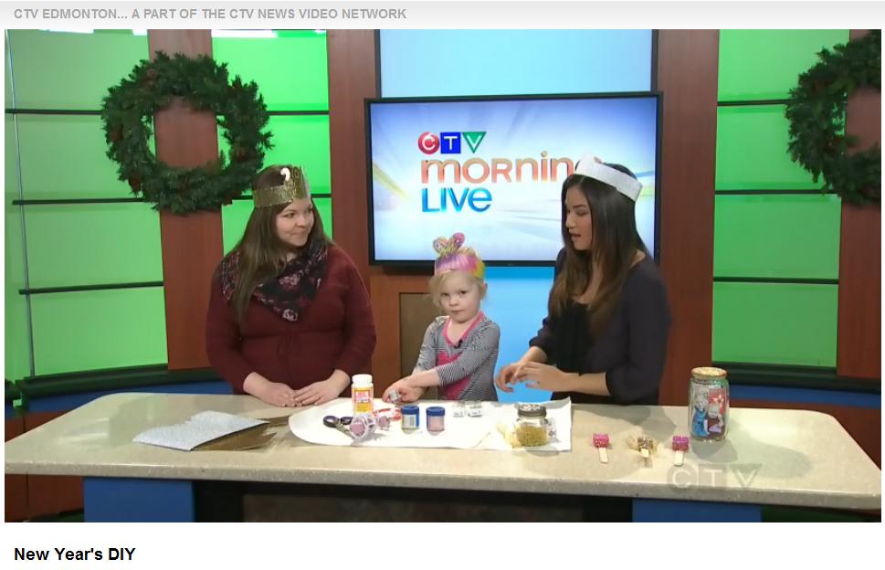 New Year's Eve DIY on CTV Edmonton - The DIY Mommy