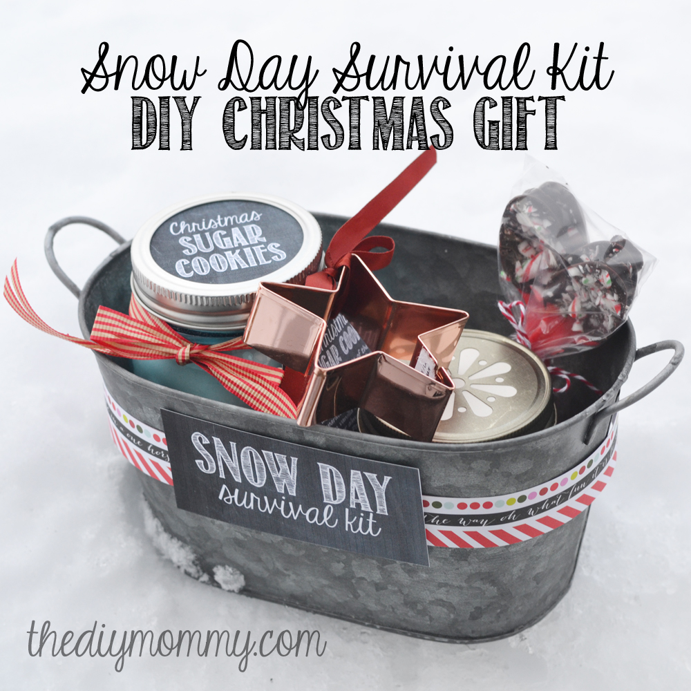 diy snow day survival kit christmas gift sugar cookies in a jar a cookie
