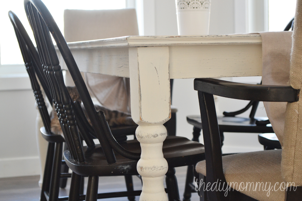 A Shabby Chic Farmhouse Table With Diy Chalk Paint The