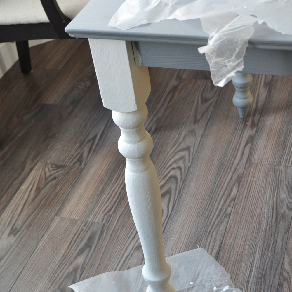 Shabby Chic Kitchen Table Centerpieces: A Shabby Chic Farmhouse Table With DIY Chalk Paint