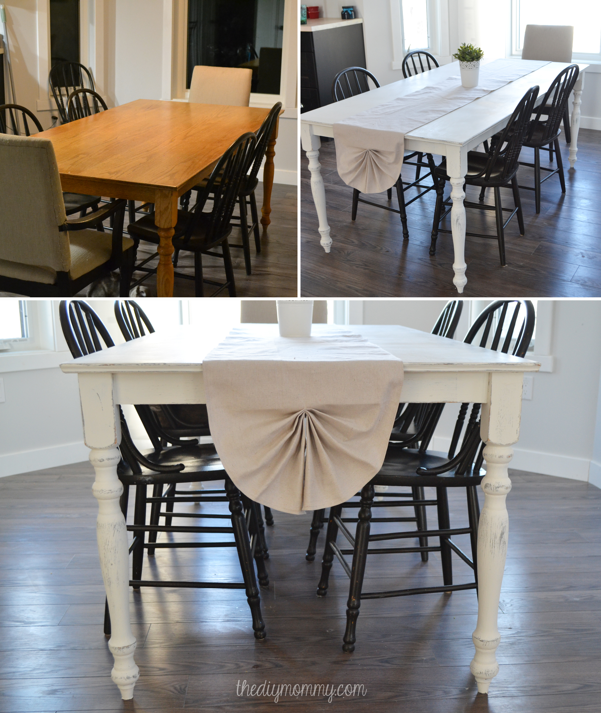 Shabby Chic Farmhouse Table with DIY Chalk