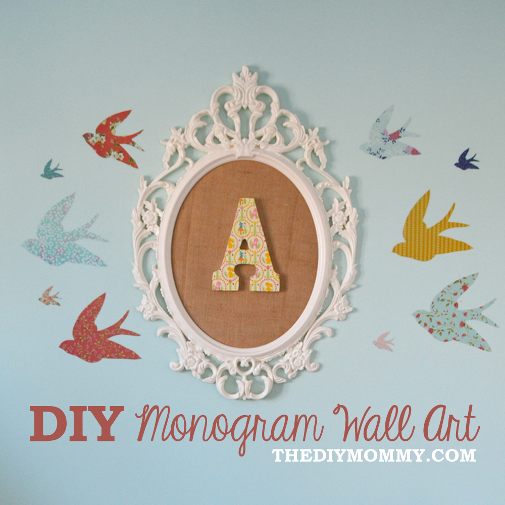 Monogram Wall Art how to make diy monogram art for a nursery from an ikea frame and
