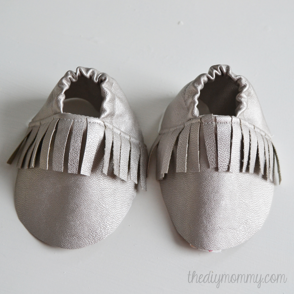 DIY Fringed Leather Baby Booties Moccasins Tutorial