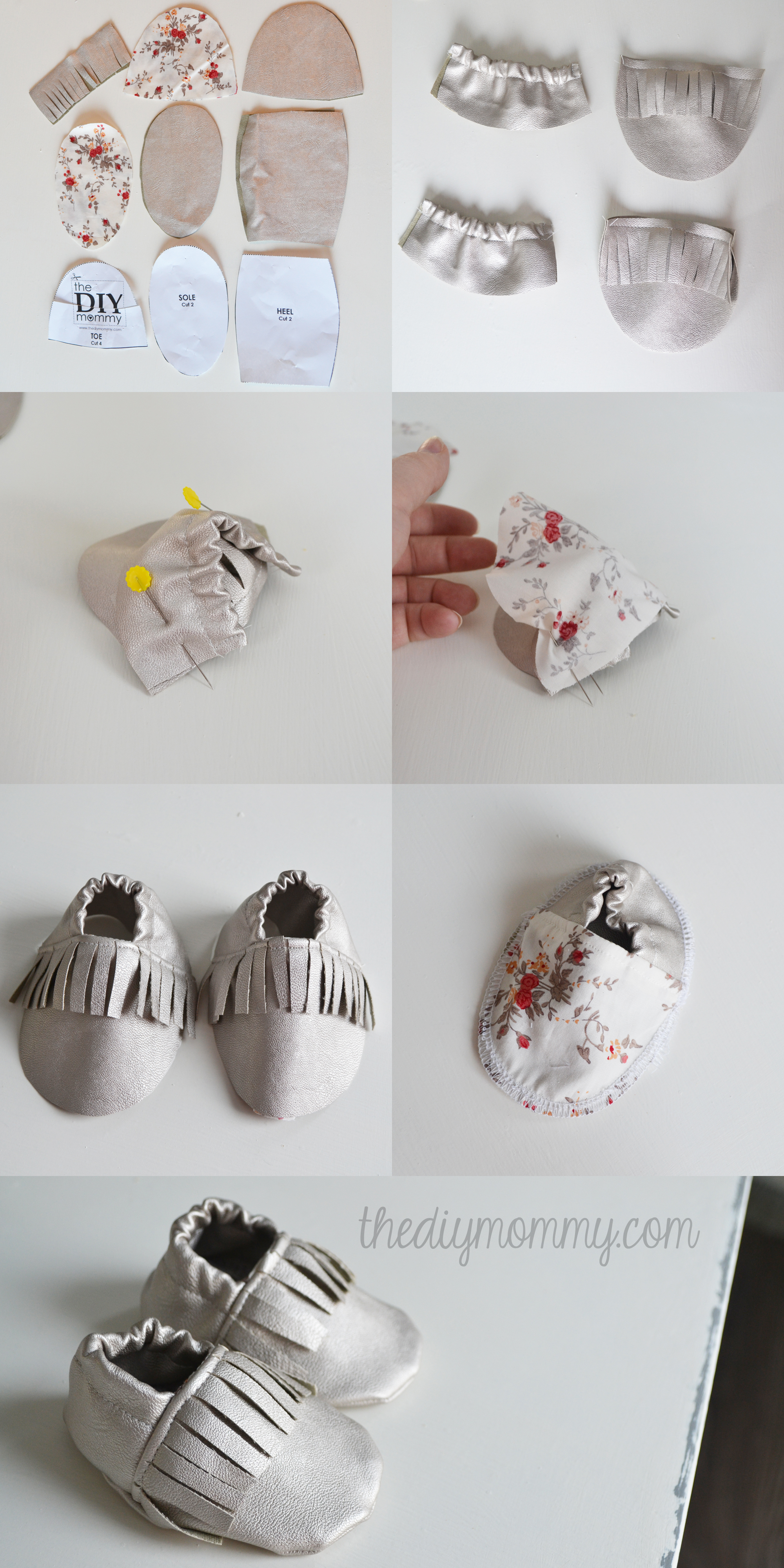 Free tutorial and pattern for fringed baby moccasins / slippers ...
