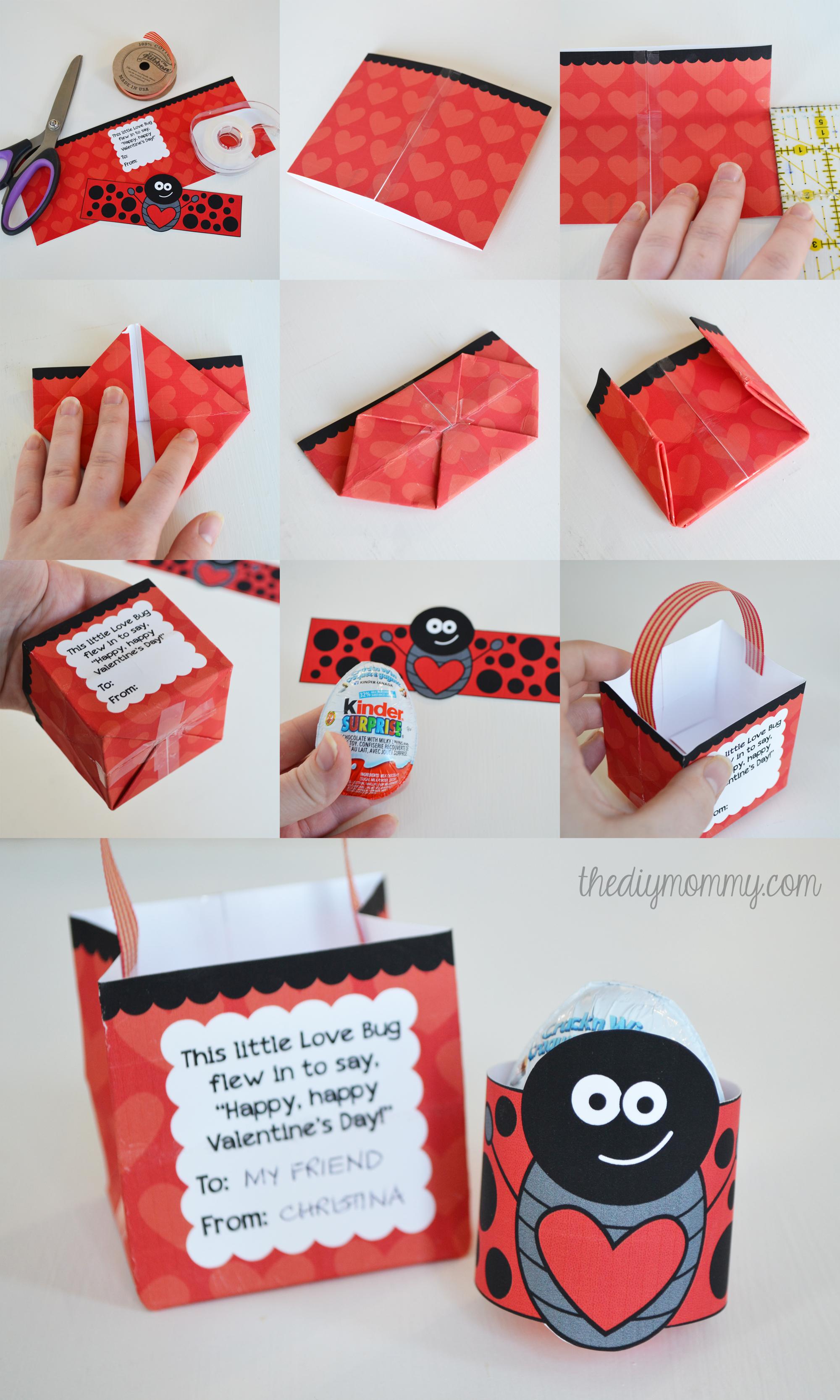love bug kinder surprise valentine free printable