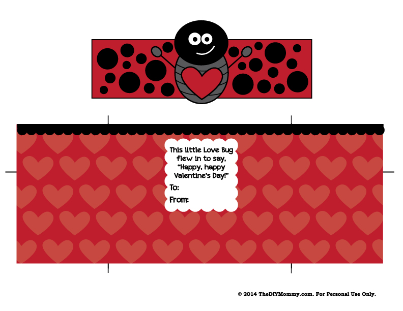 Love Bug Kinder Surprise Valentine - Free Printable!