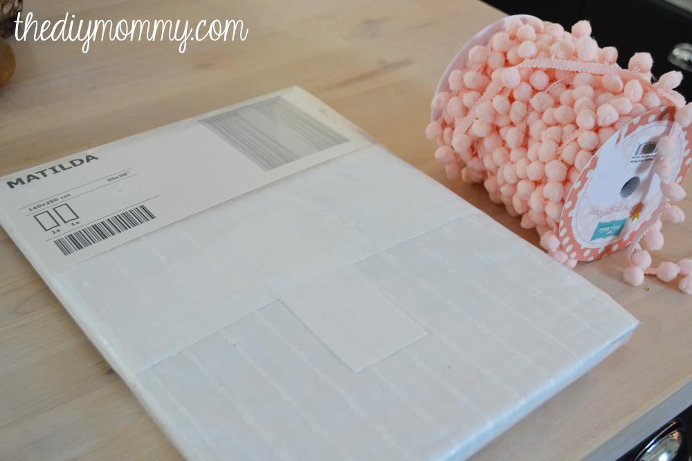 DIY Pom-Pom Trimmed Nursery Drapes
