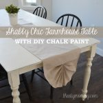 Shabby Chic Farmhouse Table with DIY Chalk Paint