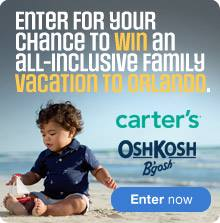 Sears Canada Carter's & OshKosh Orlando Contest